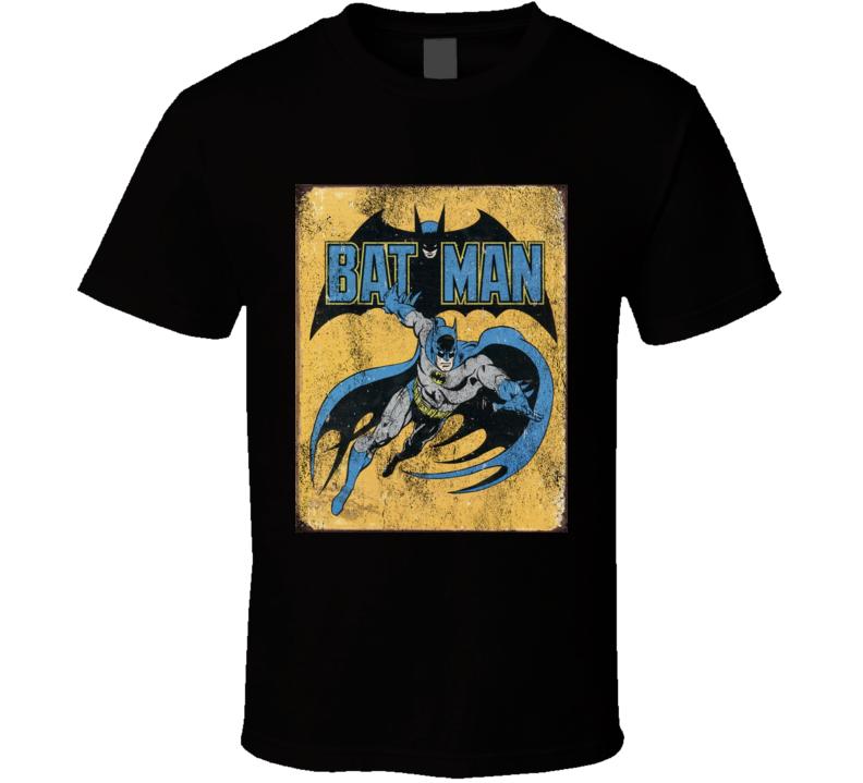 Vintage Popular Bat Comic Superhero Fun Graphic T Shirt
