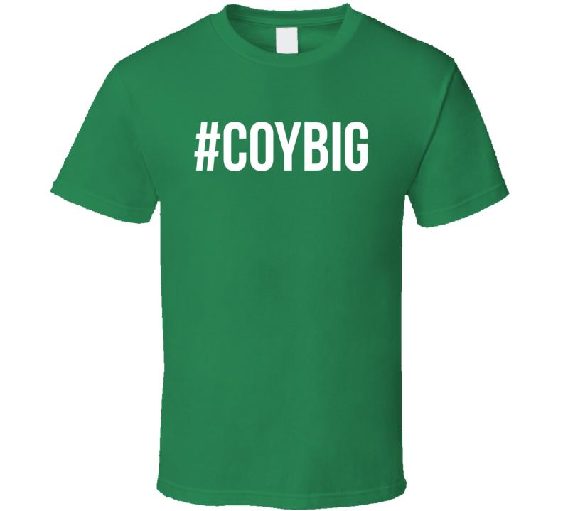 Hashtag COYBIG Come On You Boys In Green Fun Irish Soccer Fan Graphic Euro 2016 T Shirt