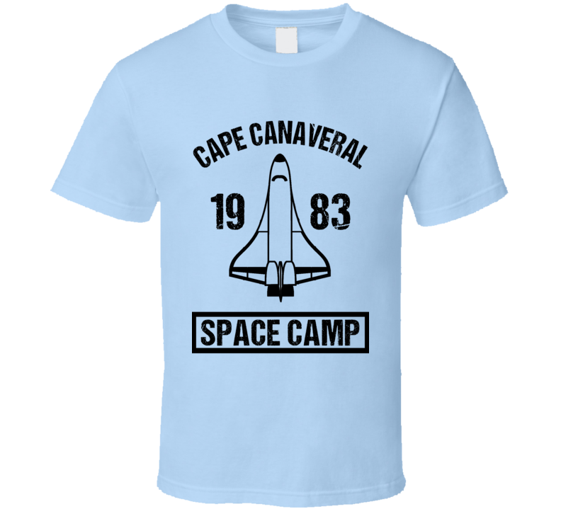 Cape Canaveral 1983 Vintage Space Camp Fun Distressed Style Graphic T Shirt