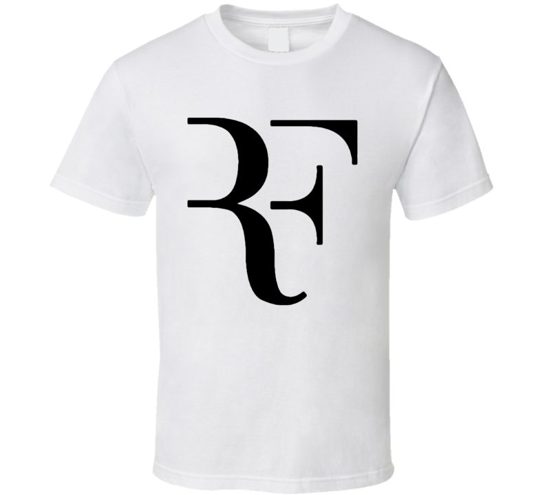 RF Roger Federer Swiss Champion Tennis Player Wimbledon US Open Graphic Sports Fan T Shirt