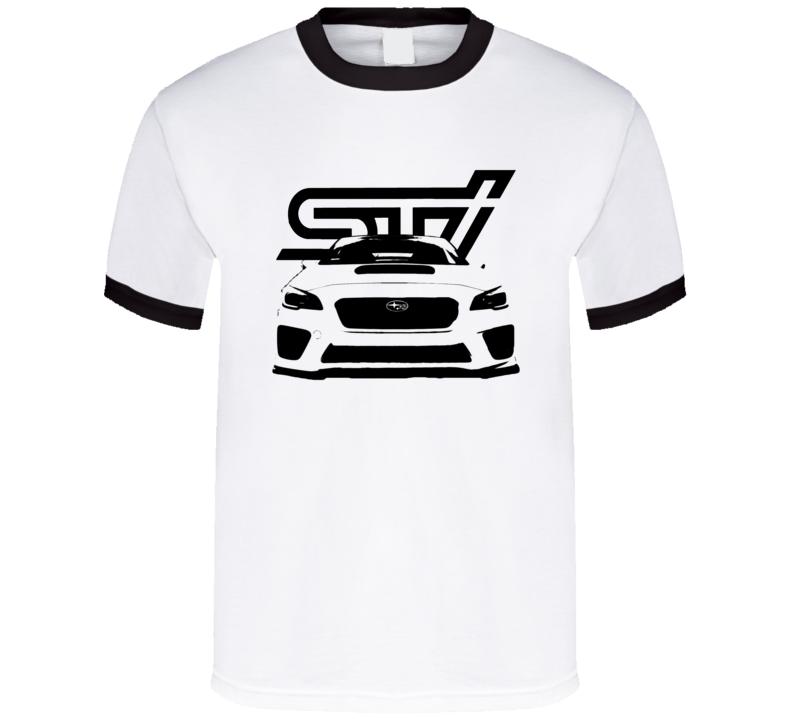 Subaru Impreza sti New Body Style Front Grill Graphic Car Lover T Shirt