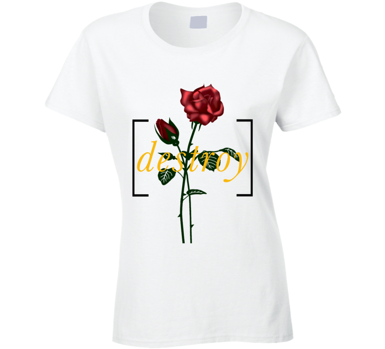 Destroy Red Rose Eternal Love Graphic T Shirt