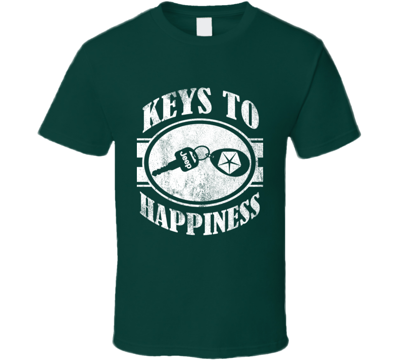 Keys To Happiness Fun Its A Jeep Thing Wrangler TJ Graphic Car T Shirt