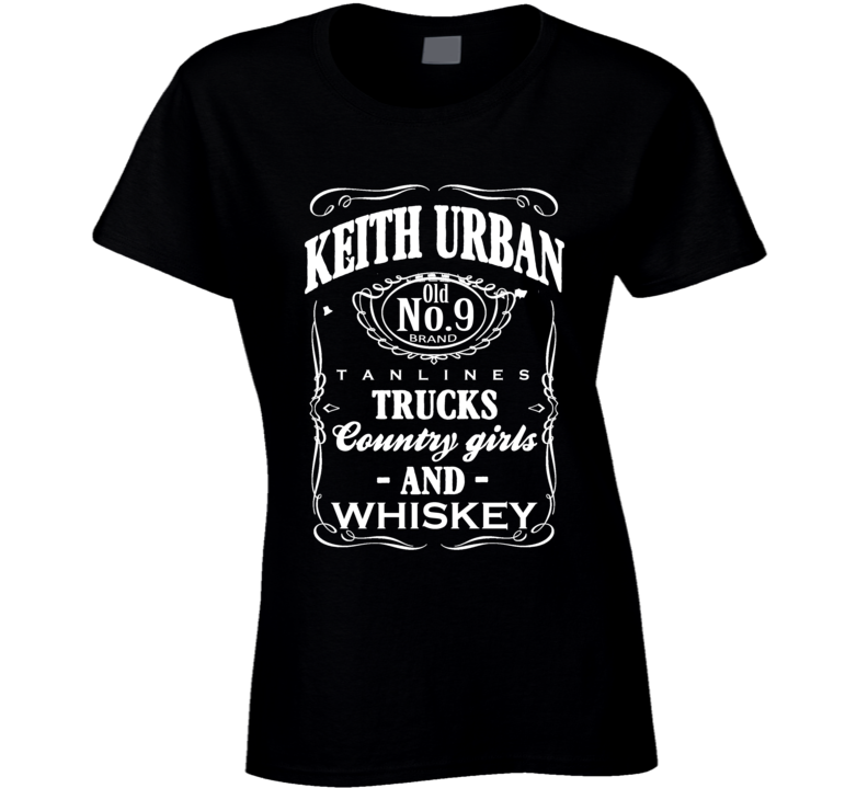 Keith Urban Tan Lines Trucks Country Girls And Whiskey Fun Graphic Music T Shirt