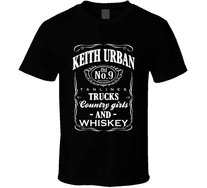 Keith Urban Tanlines Trucks Country Girls And Whiskey Fun Country Music T Shirt