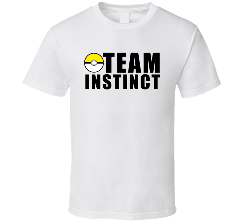 Team Instinct Pokemon Go Fun Graphic Game Apparel T Shirt