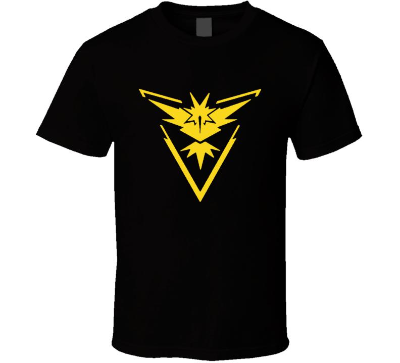 Team Instinct Logo Emblem Pokemon Go Fun Graphic Game Apparel T Shirt