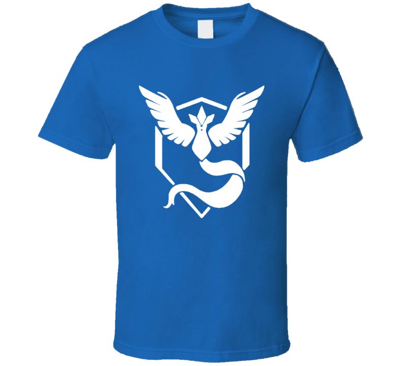 Team Mystic Logo Symbol Pokemon Go Fun Graphic Game Apparel T Shirt
