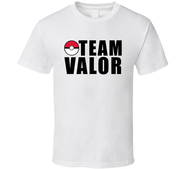 Team Valor Pokemon Go Fun Graphic Game Apparel T Shirt