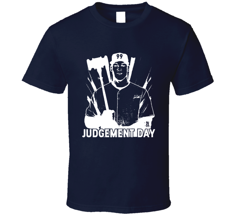 Aaron Judge New York Professional Baseball Judgement Day Graphic Fan Tee Shirt