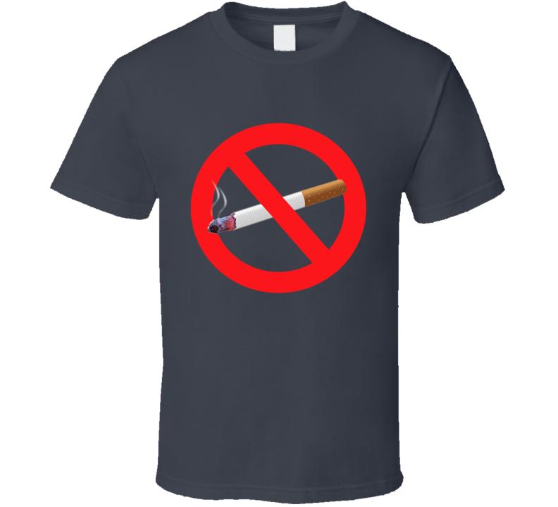 No Smoking Habit Addiction Anti Tobacco Cigarette Popular Health Graphic Tee Shirt