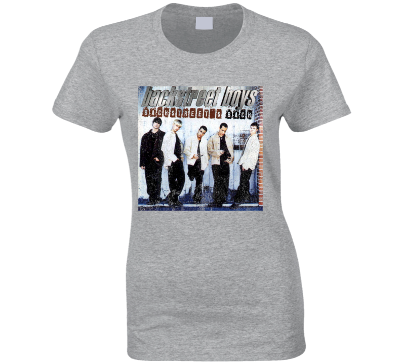 Backstreets Back Vintage BSB Album Cover Graphic 90s Boy Band Tee Shirt
