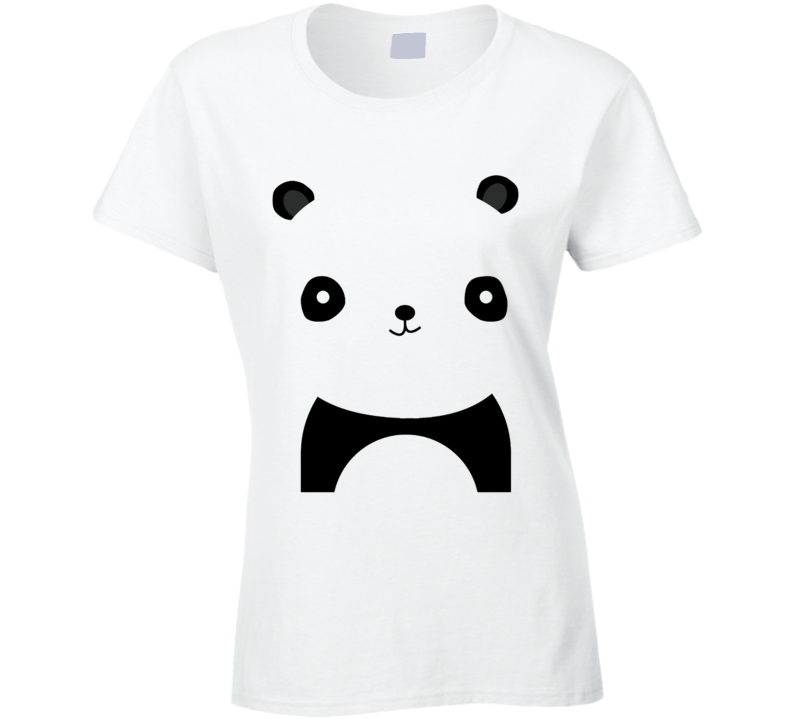 Simple Cute Panda Graphic Popular Animal Tee Shirt