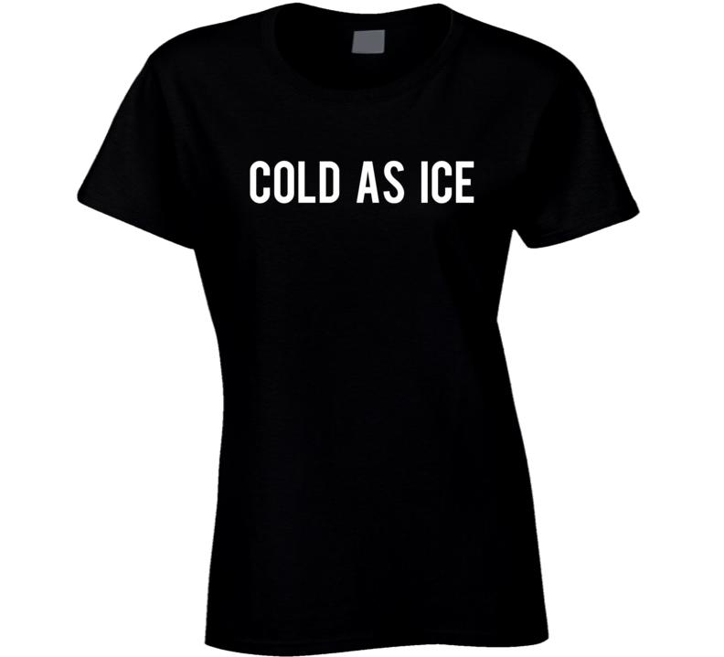 Cold As Ice Fun Popular Heart Graphic Tee Shirt