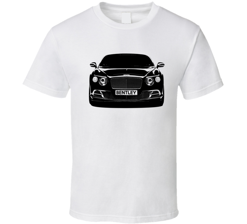 Bentley Continental GT Front Grill View Graphic Car Enthusiast T Shirt