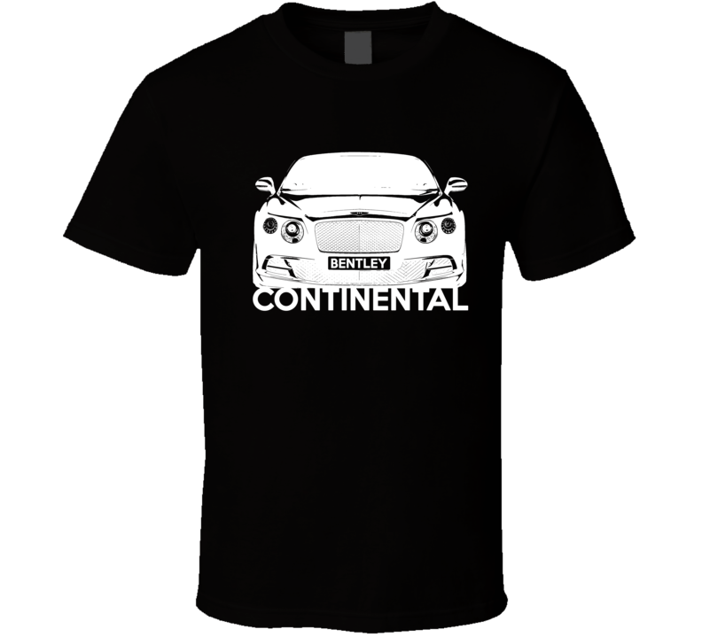 Bentley Continental GT Front Grill View Graphic Car Lover T Shirt