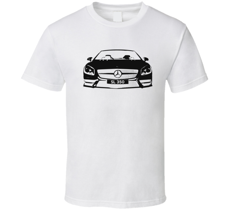 Mercedes Benz SL 350 Spyder Convertible Graphic Car Enthusiast T Shirt