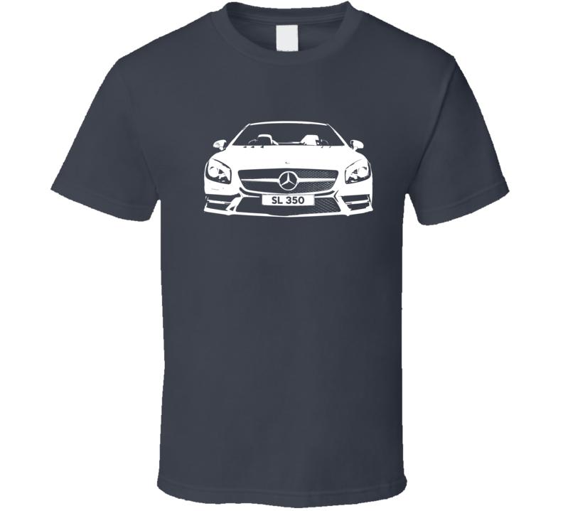 Mercedes Benz SL 350 Spyder Convertible Graphic Car Lover T Shirt