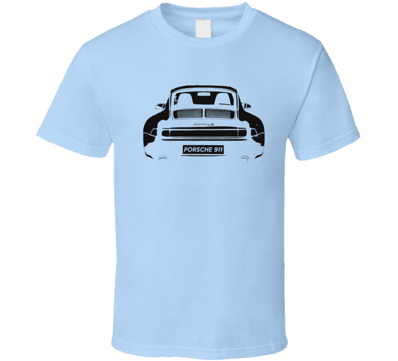 Porsche 911 Carrera S Back Bumper Popular Car Enthusiast Club Graphic Fan T Shirt