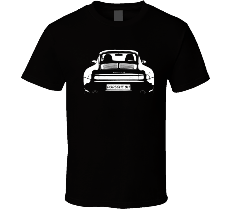 Porsche 911 Carrera S Back Bumper Popular Car Lover Club Graphic Fan T Shirt