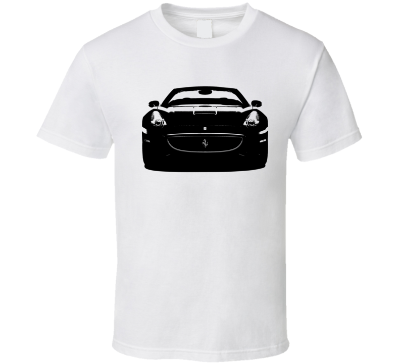 Ferrari California Spyder Convertible Car Front Grill Enthusiast Graphic T Shirt