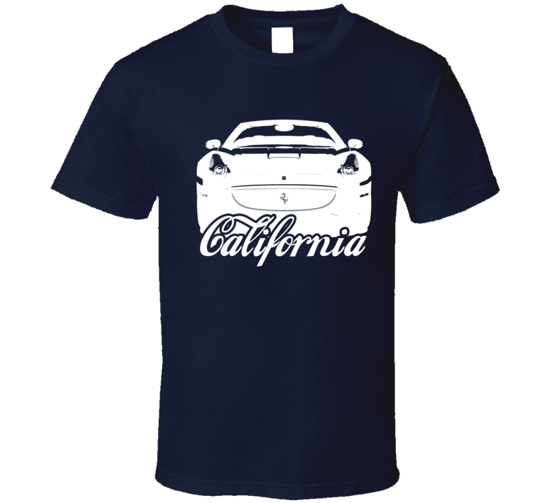 Ferrari California Front Grill Car Lover Silhouette Graphic T Shirt