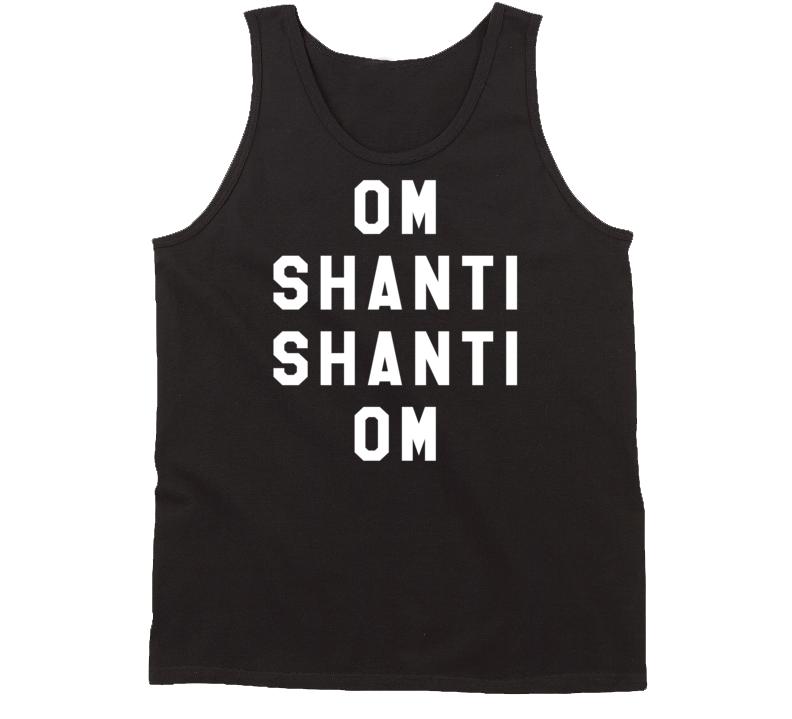 Om Shanti Shanti Om Popular Miley Cyrus Celebrity Style Graphic Tank Top