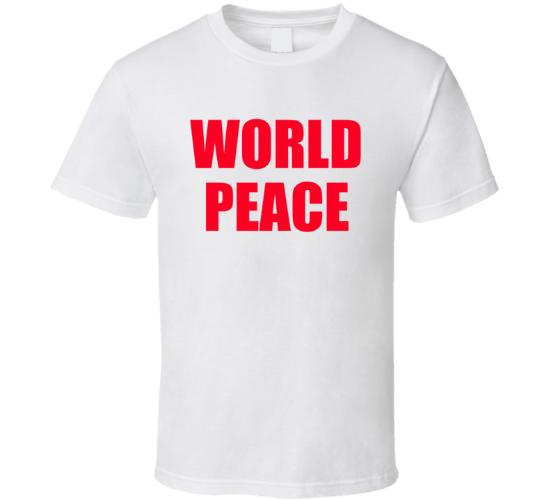 World Peace Popular Miley Cyrus Celebrity Graphic TShirt