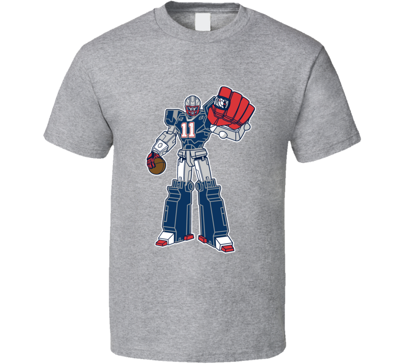 SuperTron Julian Edelman Fun New England Superbowl Football Graphic Fan T Shirt