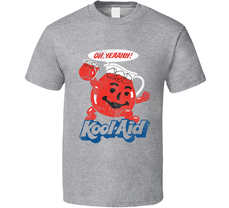 Oh Yeahhh Kool Aid Funny Juice Man Vintage Distressed Style Graphic T Shirt