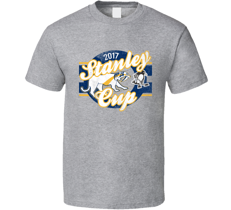 2017 Stanley Cup Playoffs Cool Nashville VS Pittsburgh Texas Hockey Fan Graphic T Shirt