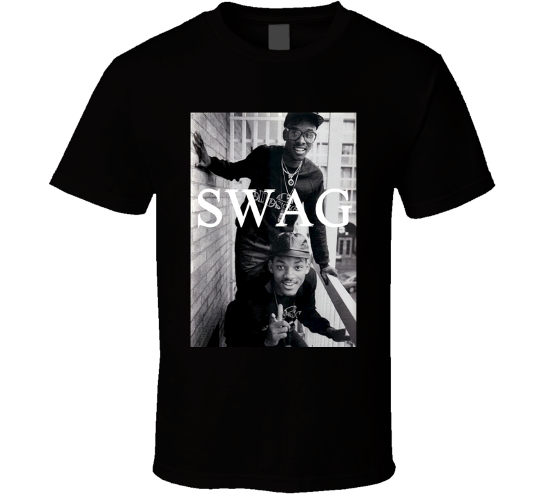 Swag Vintage Will Smith Fresh Prince Cool Urban Hip Hop Graphic T Shirt
