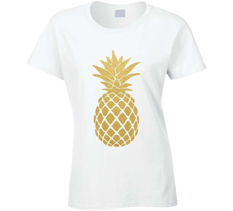 Golden Pineapple Fun Popular Cool Fruit Graphic Summer T Shirt