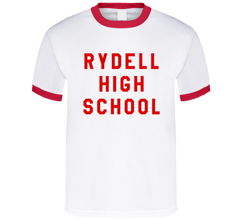 Rydell High School Fun Popular Grease Movie Graphic 80s Style T Shirt