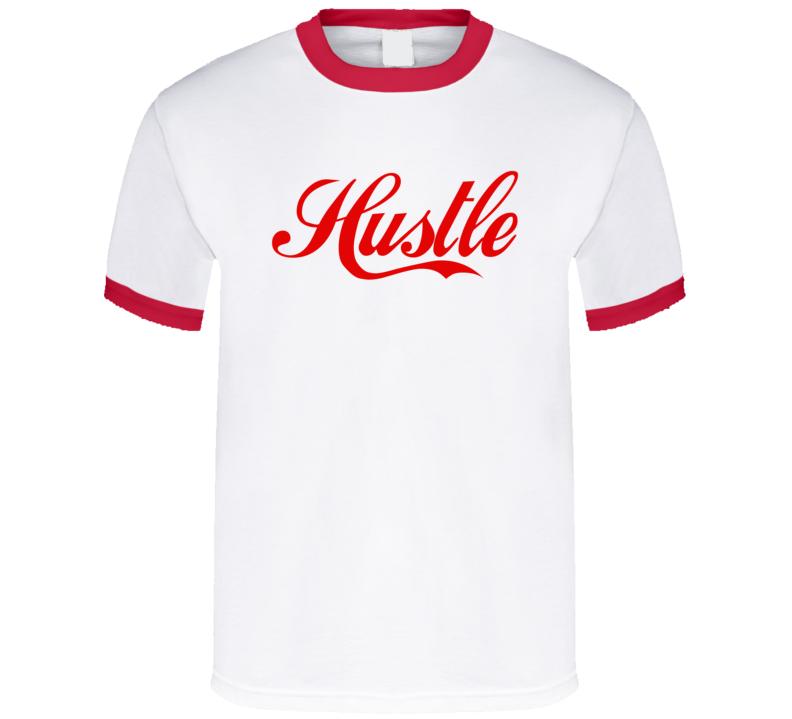 Hustle Vintage Coke Cola Style Retro 80s Vintage Style Graphic Tee Shirt