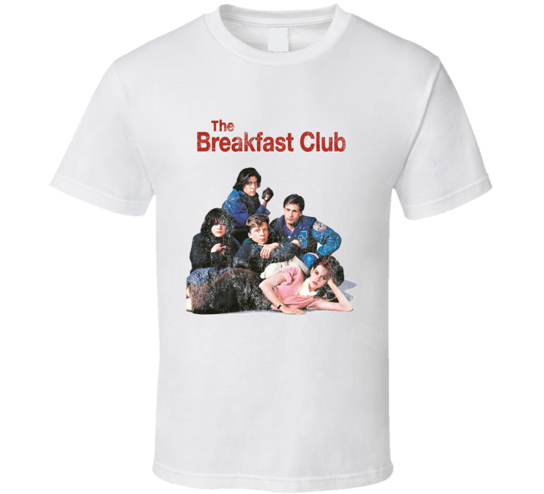 The Breakfast Club Cool Fun 80s Vintage Style Distressed Look Graphic Movie Tee Shirt