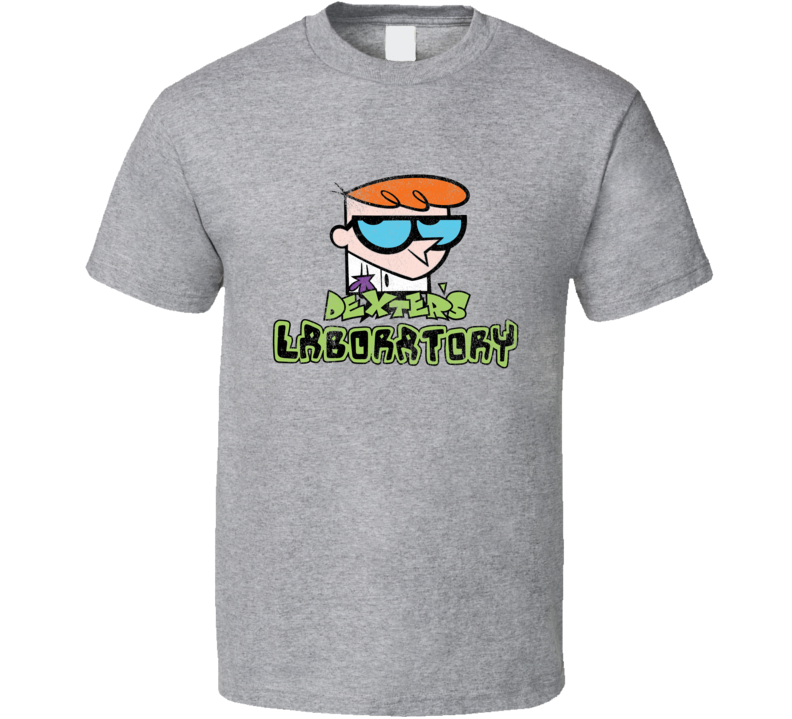 Dexters Laboratory Fun Cool Vintage Style Distressed Look Retro Tv Show Graphic T Shirt
