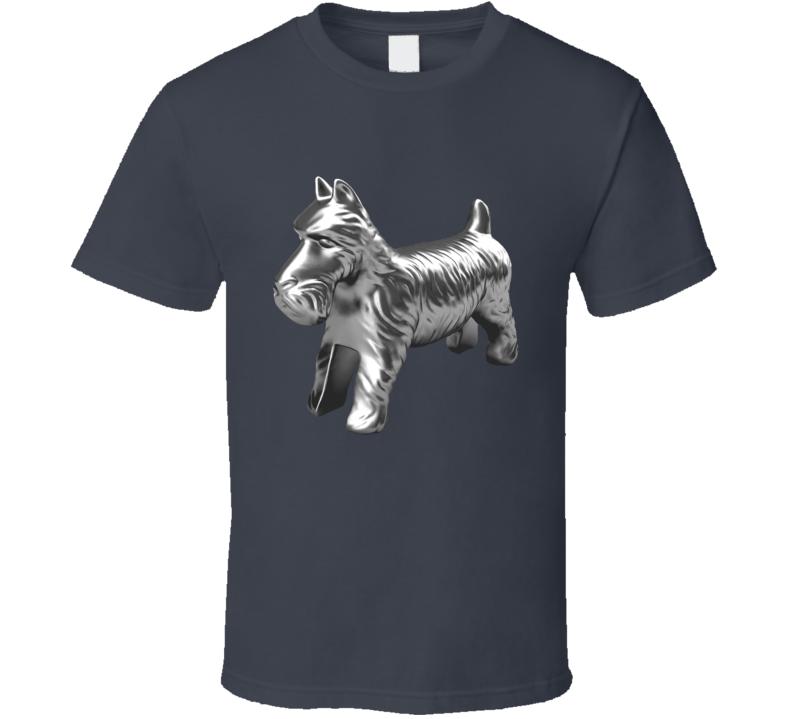 Dog Monopoly Token Fun Classic Game Piece Graphic Tee Shirt