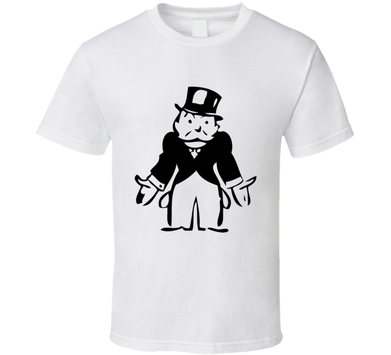 Monopoly Man Empty Pockets Classic Fun Graphic Game Tee Shirt