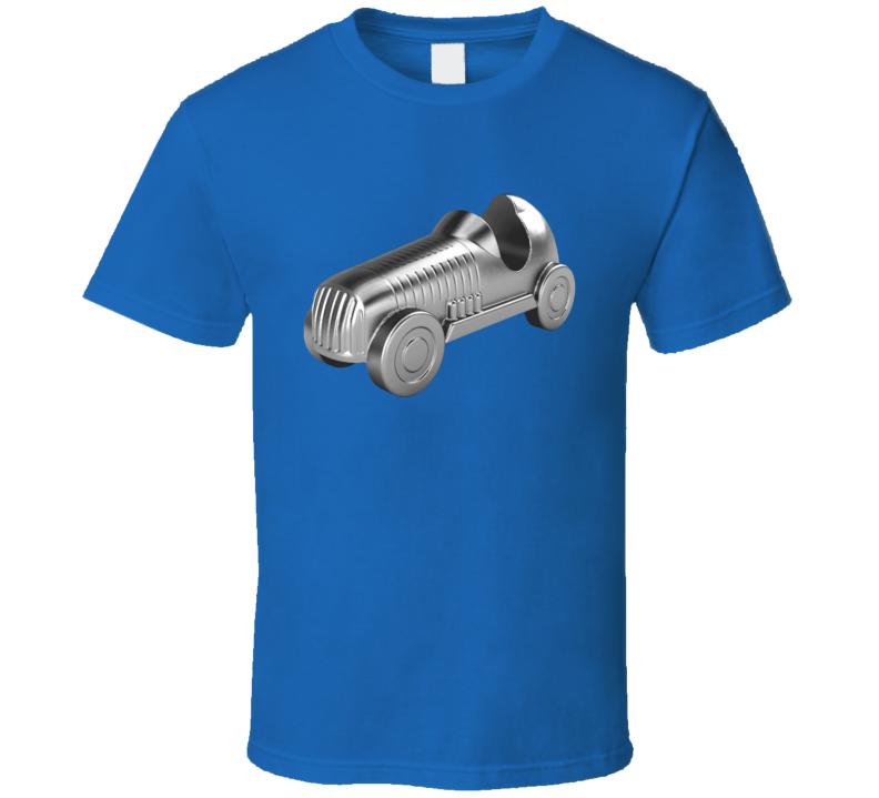 Race Car Fun Classic Monopoly Token Cool Graphic Game Tee Shirt