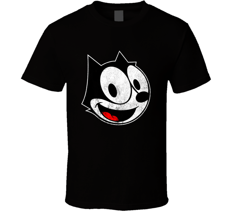Felix The Cat Fun Vintage Style Distressed Retro Tv Show Graphic T Shirt