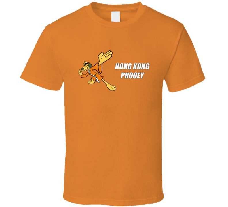 Hong Kong Phooey Fun Cool Vintage Graphic Retro Tv Show T Shirt