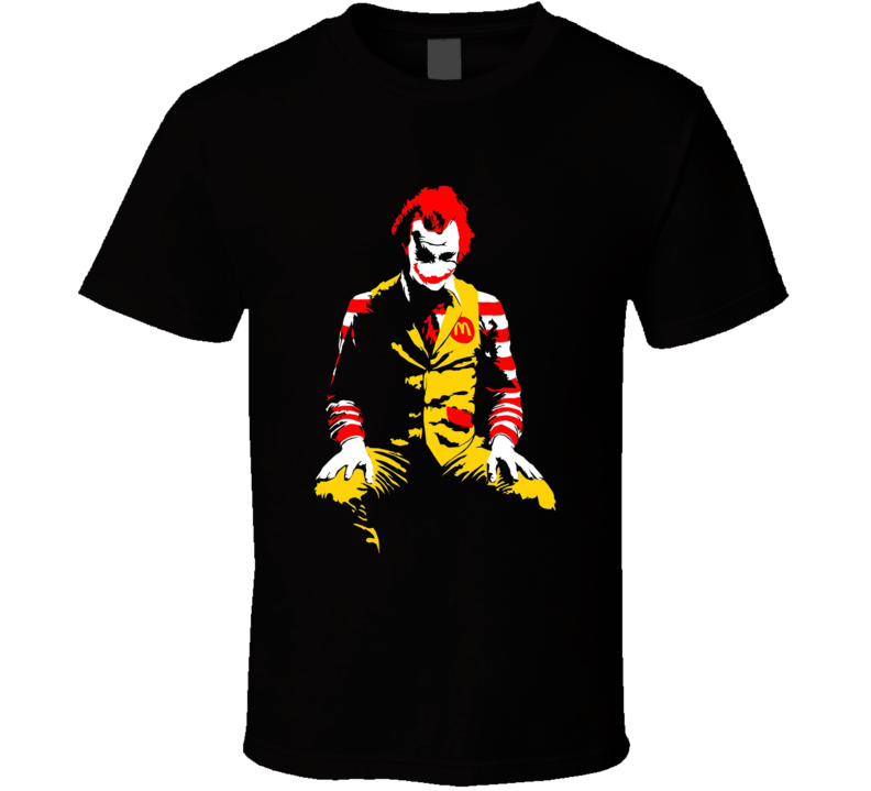 Mcdonalds Joker Batman Fast Food Parody Graphic Funny T Shirt