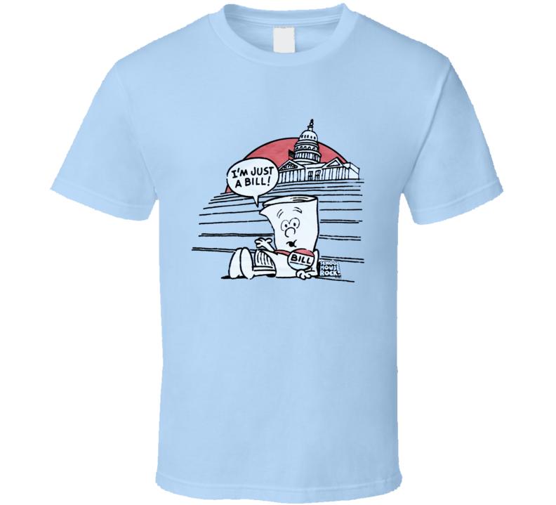 I Am Just A Bill Schoolhouse Rock Fun Cool Vintage Graphic Retro Tv Show T Shirt