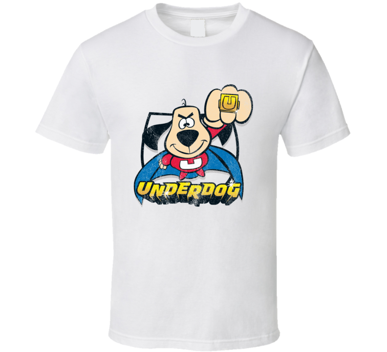 Underdog Fun Cool Vintage Style Distressed Graphic Retro Tv Show T Shirt