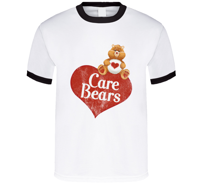 Care Bears Fun Cool Vintage Style Distressed Graphic Retro Tv Show T Shirt