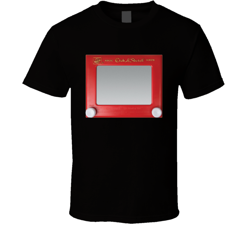 Etch A Sketch Fun Cool Vintage Graphic Retro 80s Toy T Shirt