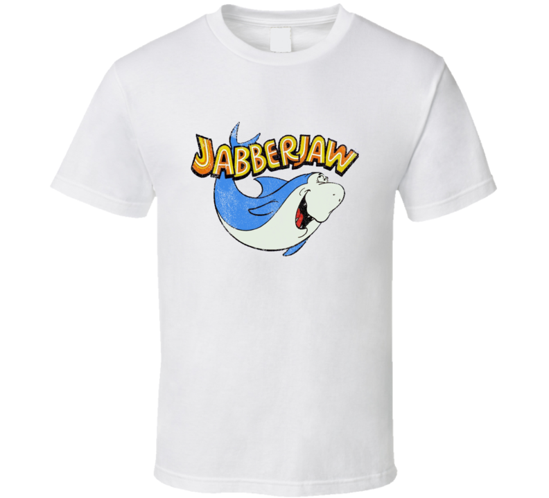 Jabberjaw Fun Cool Vintage Style Distressed Graphic Retro Tv Show T Shirt