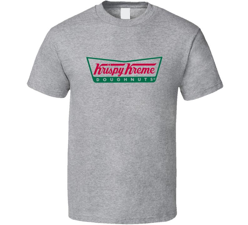Krispy Kreme Fun Cool Vintage Style Graphic Logo T Shirt