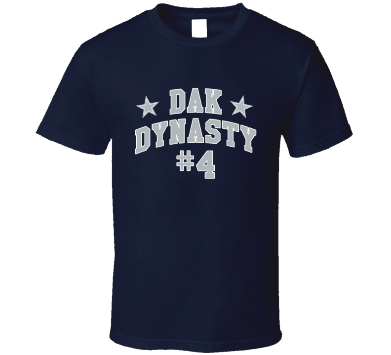 Dak Dynasty Fun Dak Prescott 4 Dallas Professional Football Fan Graphic Sports T Shirt